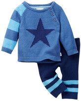 Cuddl Duds Star Raglan Sweater & Cuddl Pant 2-Piece Set (Baby Boys)