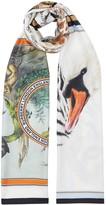 Burberry animal montage print scarf