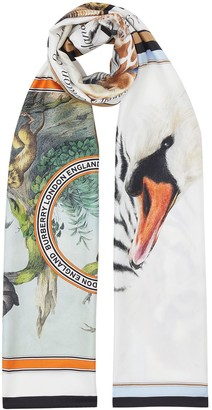 Burberry Animal Montage Print Scarf