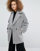 Helene Berman Tessa Coat in Ivory and Black