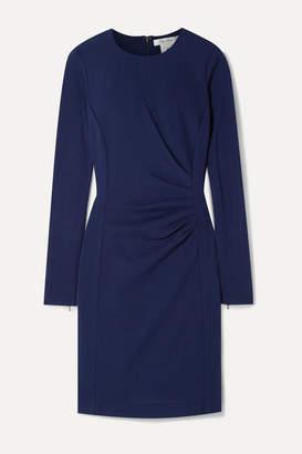 Max Mara Colimbo Ruched Wool-crepe Dress - Blue
