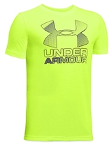Under Armour Boys' Big Logo Hybrid 2.0 Tee - Big Kid