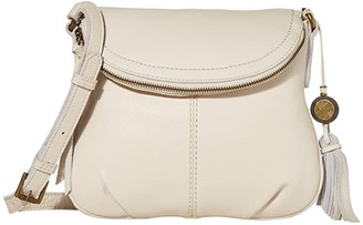 The Sak Buena Leather Small Flap Crossbody (Stone) Handbags