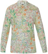 Gucci New Flora Print Cotton Shirt