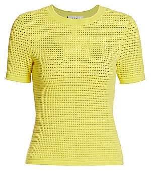 Milly Women's Mesh Knit T-Shirt