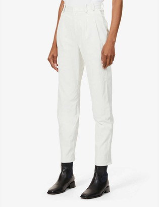 Sprwmn Tapered mid-rise leather trousers