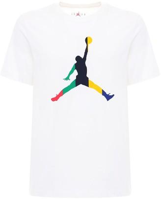 Nike Jordan Sport Dna Print Cotton T-Shirt