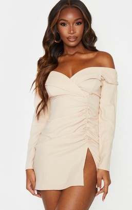 Bardot Paradis Stone Ruched Detail Blazer Dress