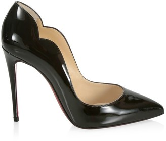 Christian Louboutin Hot Chick Scallop Patent Leather Pumps
