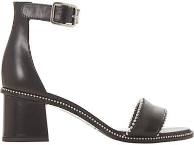 Dune Black Julietta Mini Stud Block Heel Sandals