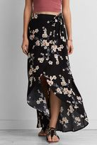 American Eagle Outfitters AE Printed Wrap Maxi Skirt