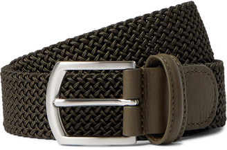 Andersons 4cm Leather Trimmed Woven Elastic Belt
