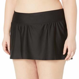 Coastal Blue Women's Plus Size Swimwear Twist Front High Waist Bikini Bottom