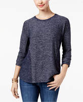 Style&Co. Style & Co Petite Brushed Melange Top, Created for Macy's