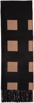 Burberry Black and Beige Check Scarf