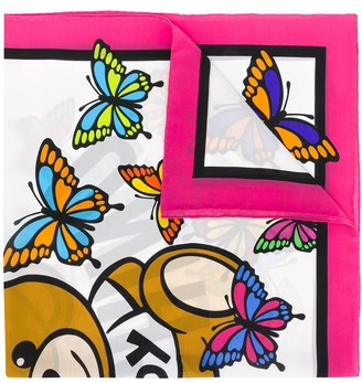 Moschino Butterfly Teddy Scarf