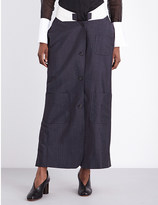 Thom Browne Low-rise wool and mohair-blend skirt