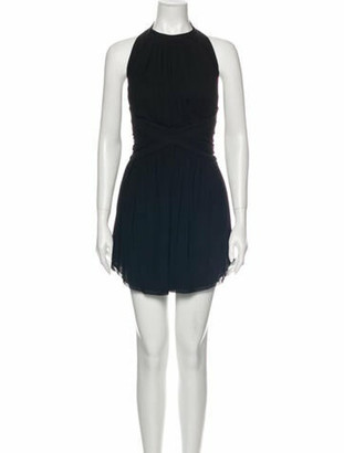 Balmain Halterneck Mini Dress Black
