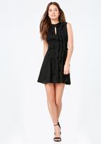 Bebe Georgette Ruffle Dress