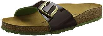 Birkenstock Women's Mayari Birko-Flor Toe Post Sandals, Braun (Lack Two Tone Espresso)