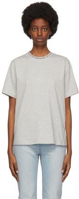 Victoria Victoria Beckham Grey Logo Rib T-Shirt