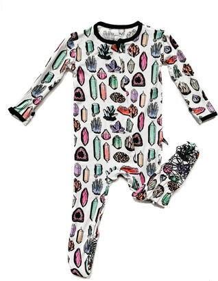 Crystals Fitted One-Piece Pajamas