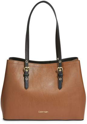 Calvin Klein Rum Faux Leather Tote