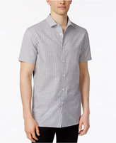 Vince Camuto Men's Mixed-Media Striped Shirt