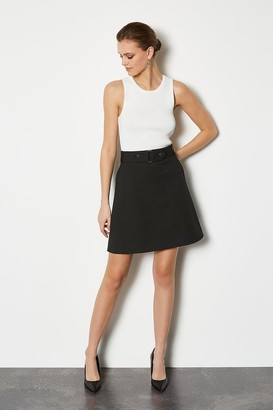 Cinch Waist A-Line Skirt