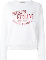 MAISON KITSUNÉ brand print sweatshirt - women - Cotton - XS