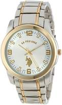 U.S. Polo Assn. Men's Two Tone Dial Metal Link Watch USC80031