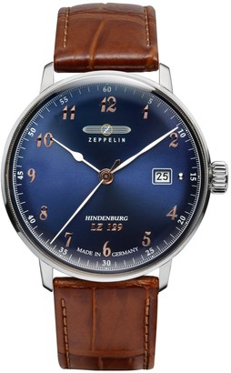Zeppelin Women's Analogue Quartz Watch with Leather Strap 7048-3
