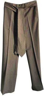 Veronique Branquinho Grey Wool Trousers for Women
