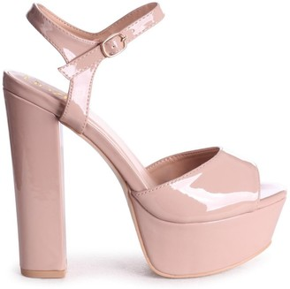 Barely There Linzi SINDY - Nude Patent Extreme Platform Heel