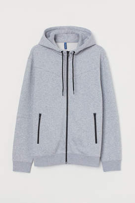 H&M Hooded Stand-up-collar Jacket - Gray