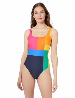 Nautica Women's Classic Scoop Neck One Piece Swimsuit