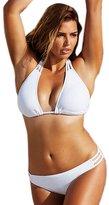 Maxwell Women's Sexy Plus Size Triangular String Swim Bikini Swimsuit Swimwear (XXL, )