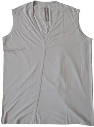Rick Owens Grey Cotton T-shirts