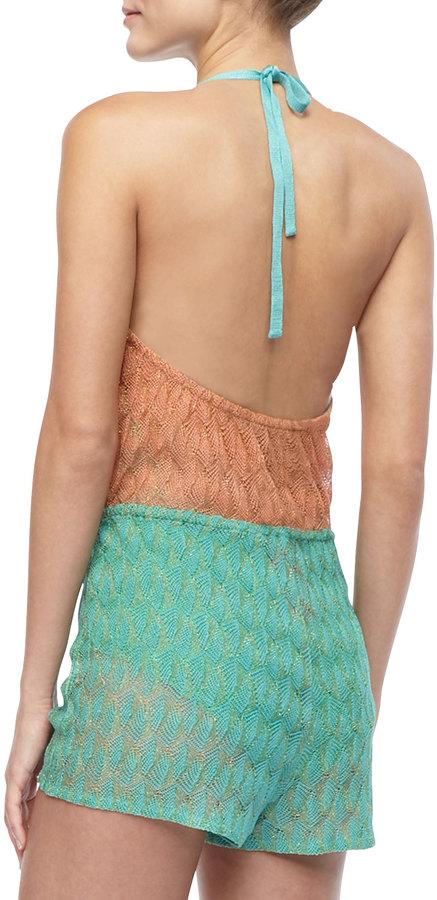 Missoni Patterned Tie-Waist Jumpsuit