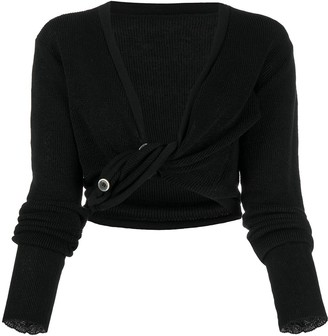Jacquemus Twisted-Front Blouse