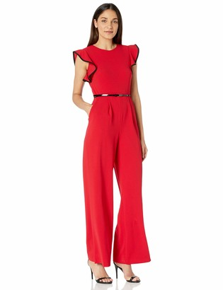 Calvin Klein Women's Belted Jumpsuit