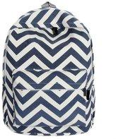 ABC Women Double-Shoulder Sweet Stripe Canvas Backpack Schoolbag