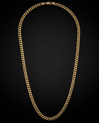 Italian Gold 14K Semi-Solid Miami Cuban Link Necklace
