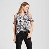 Mossimo Women's Cold Shoulder Short Sleeve Top