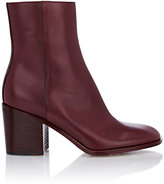 Maison Margiela Women's Side-Zip Ankle Boots-BURGUNDY