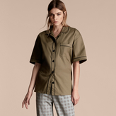 Burberry Short-sleeved Stretch Cotton Pyjama-style Shirt