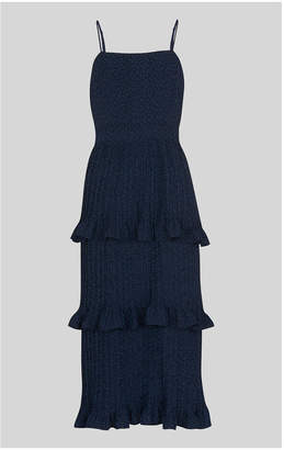 Whistles Animal Jacquard Pleated Dress