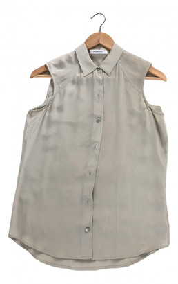 Everlane Grey Silk Tops
