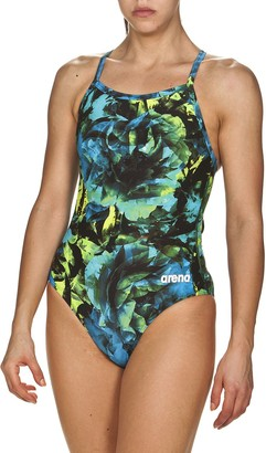 Arena Plus Size Hyper Floral MaxLife One-Piece Swimsuit