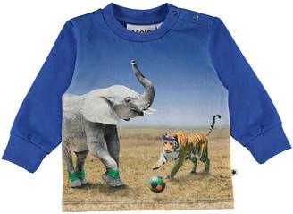 Molo Boy's Eloy Animals Playing Soccer Graphic Sweatshirt, Size 6M-2